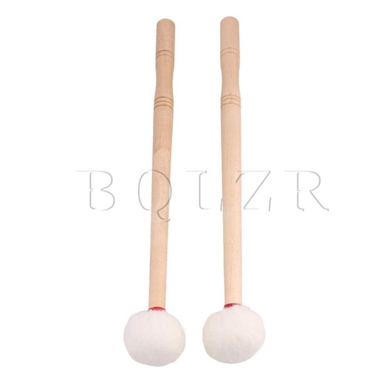 12 Inch Timpani Soft Felt Head Mallet Wood Handle Set of 2 - intl