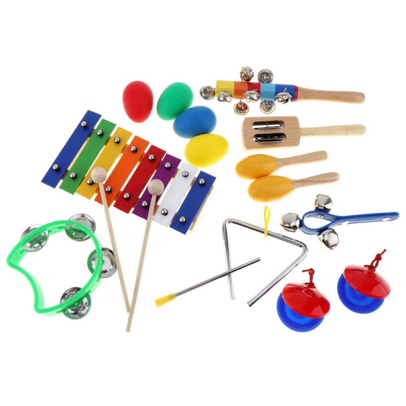17pcs/lot 8 Tone Xylophone Set 9 Kinds Kids Percussion Toys for Children / Baby / Early Education - intl