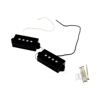 2Pcs 4 String Noiseless Pickup Black for Precision P BassReplacement - intl