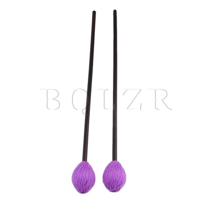 2pcs Maple Handles Woolen Yarn Head Keyboard Marimba Mallets Purple - intl