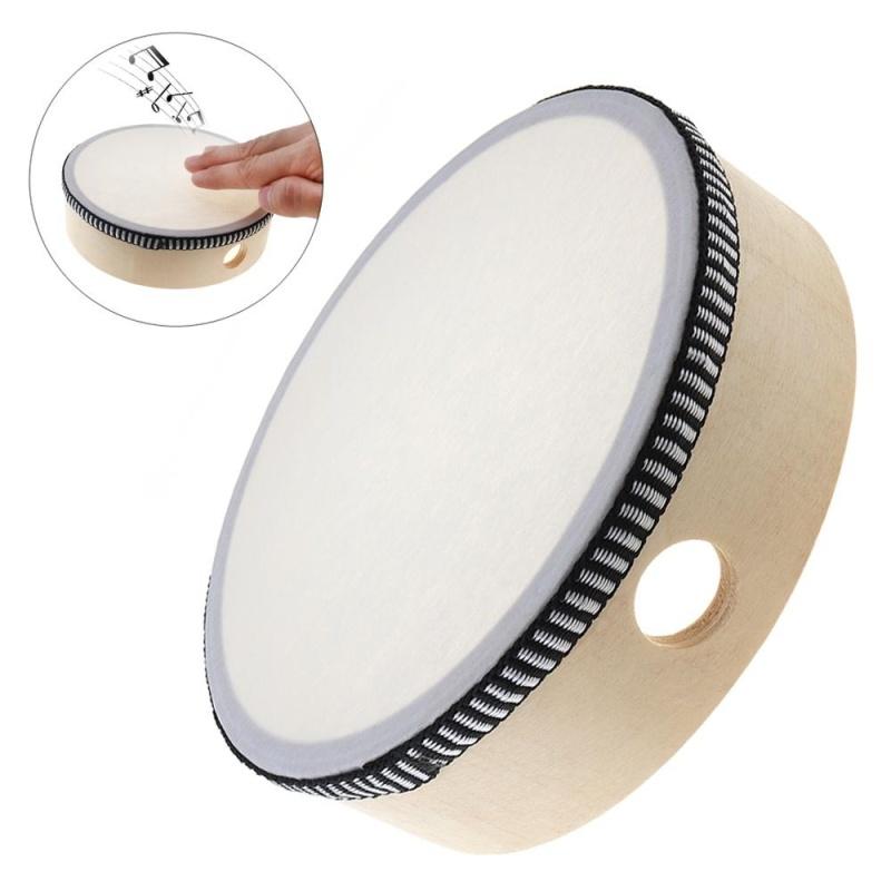 6 Inch Musical Tambourine Drum Round Percussion Sheepskin Drums for Children - intl