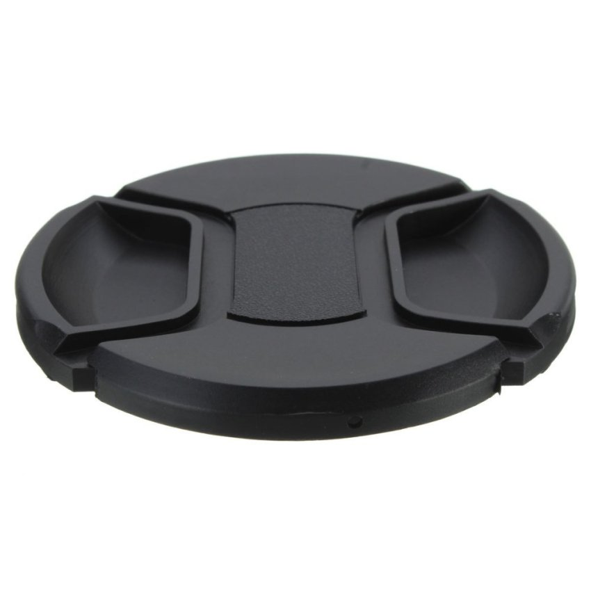 77mm Center Front Lens Cap Hood Cover Snap-on With String For Canon Nikon Sony - Intl