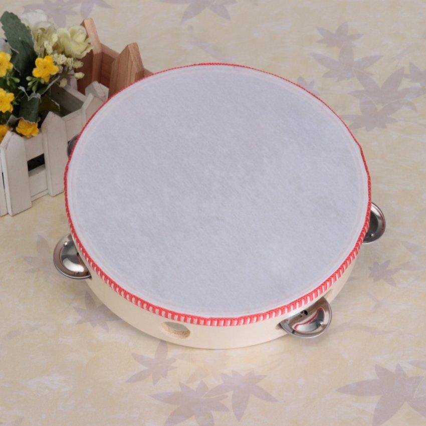 8'' Musical Tambourine Tamborine Drum Round Percussion Gift for KTV Party Kids - Intl