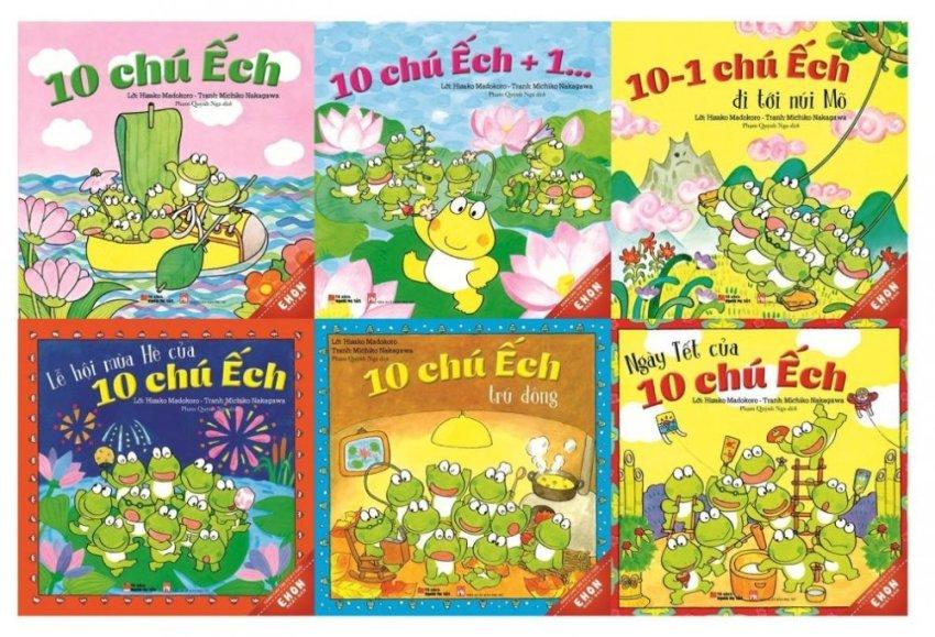 Bộ Ehon Nhật Bản (Bộ 1) - 10 Chú Ếch (Bộ 6 Cuốn) - Hisako Madokoro,Michiko Nakagawa,Phạm Quỳnh Nga