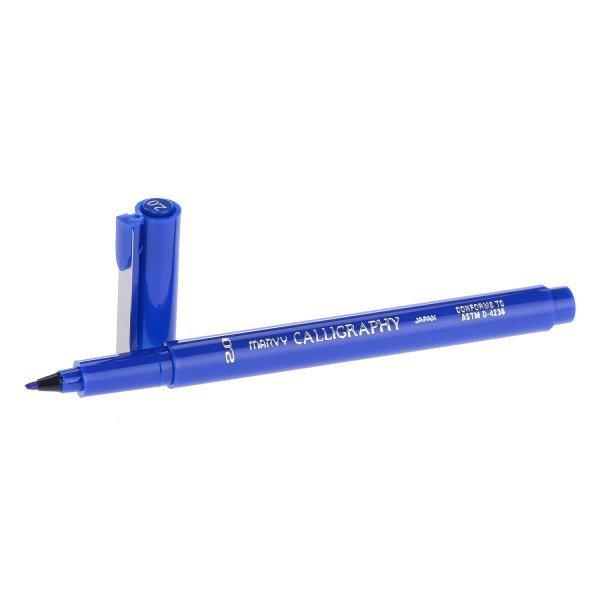 Bút Viết Thư Pháp Marvy 6020 (Xanh)