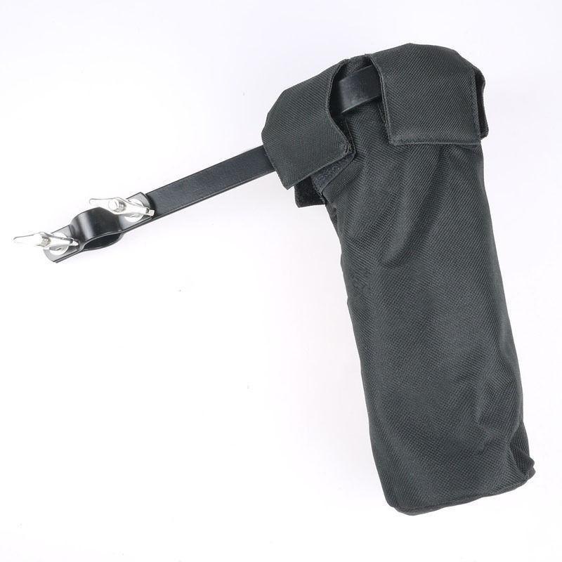 Canvas Drumsticks Holder Stage Style Clamp On Drum Stick Case Hammer Bag Black - intl