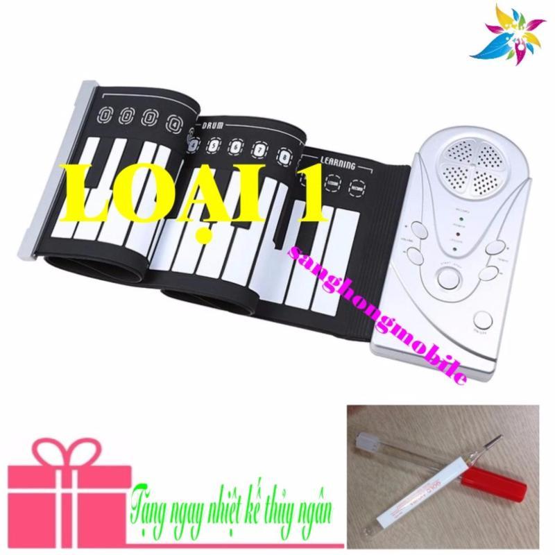 Đàn piano điện tử bàn phím cuộn dẻo 49 keys Loại 1 Công nghệ mới 2017 (trắng) + Nhiệt kế thủy ngân