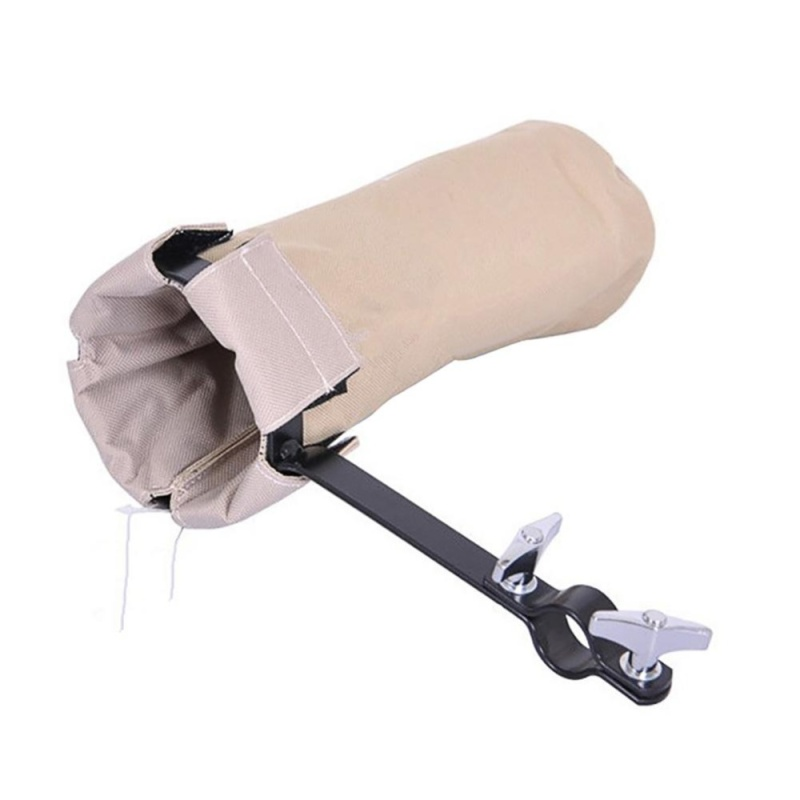 Drum Kit Drumstick Cylinder Canvas Drum Stick Package Drumstick Bag Holder Color:Khaki - intl