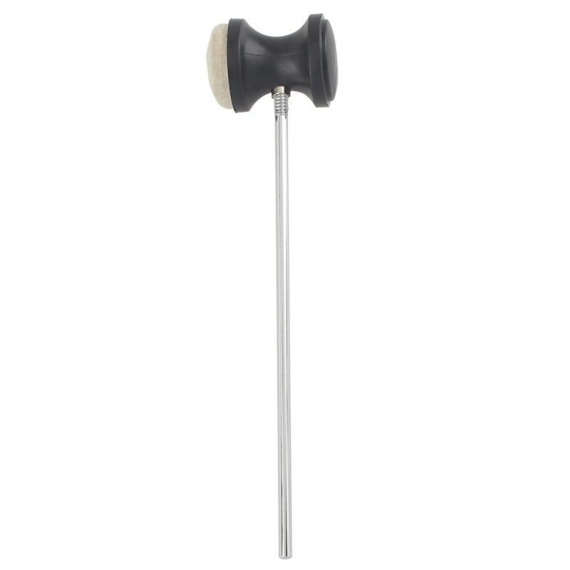 Drum Pedal Wool Felt Stainless Steel Handle 1pcs Instrument Accessory Part High Quality - intl