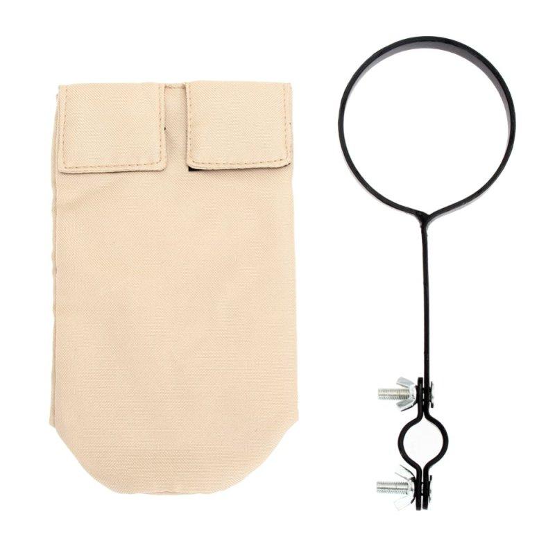 Drumstick Holder Bag with Support Bracket (Khaki) - intl
