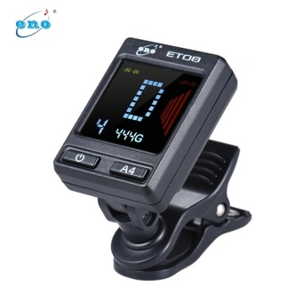 eno ET-08 Multi-function Clip-on Tuner Guitar Bass Violin UkeleleChromatic Tuning Mode with Colorful LCD Display - intl