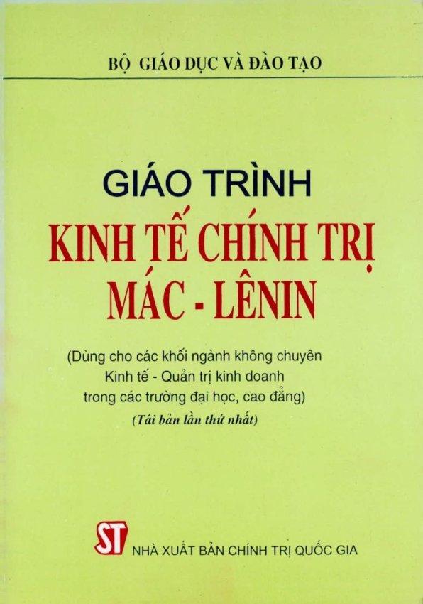 Giáo trình kinh tế học chính trị Mac - Lenin
