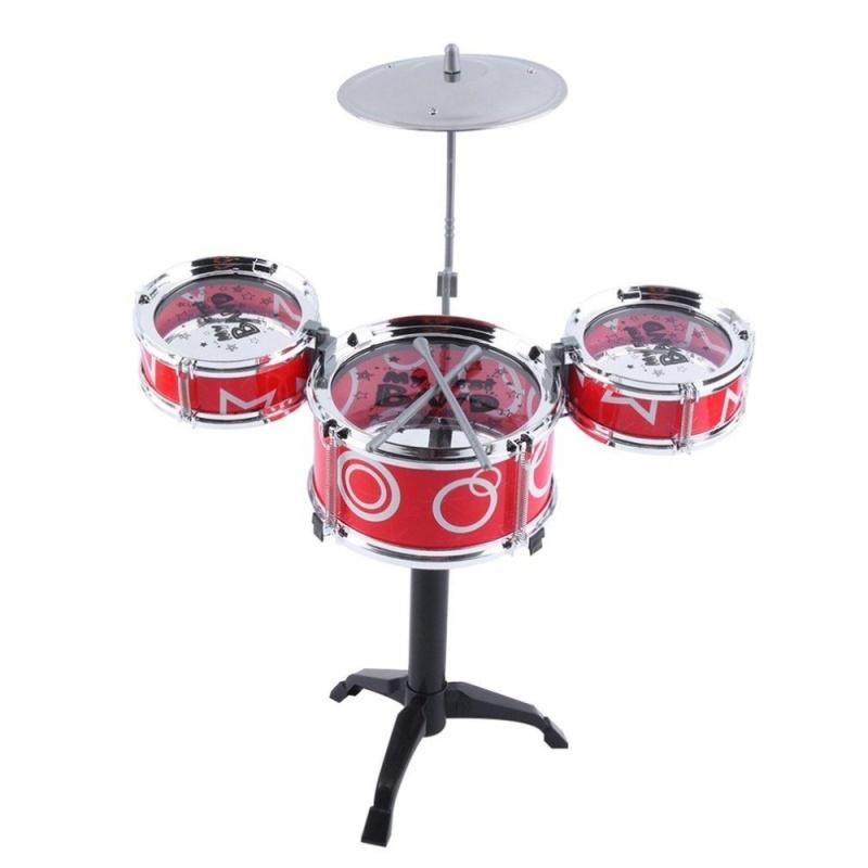 GOOD Children Kids Educational Toy Rock Drums Simulation Musical Instruments - intl