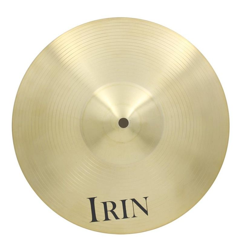 IRIN 16 Inch Brass Alloy Crash Ride Hi-Hat Cymbal for Drum Set - intl
