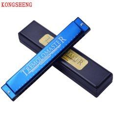 Kèn harmonica Kongsheng Tremolo Master key C (xanh)