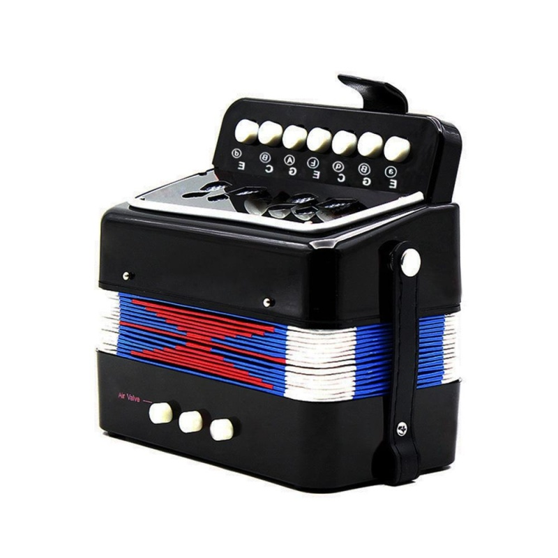 Kids Children 7-Key 2 Bass Mini Small Accordion Educational Musical Instrument Rhythm Band Toy Black Outdoorfree - intl