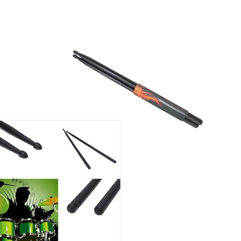 leegoal Lightweight Nylon Classic 5A Drum Sticks (Black,2pcs) - intl