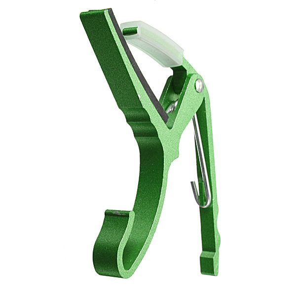New Aluminum Electric Guitar Capo Trigger Key Clamp Change Single-Handed Green - Intl