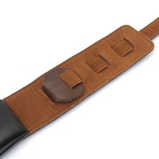 New PU Leather Widen Thicken Lengthen Strap for Electric Acoustic Guitar Bass - Intl