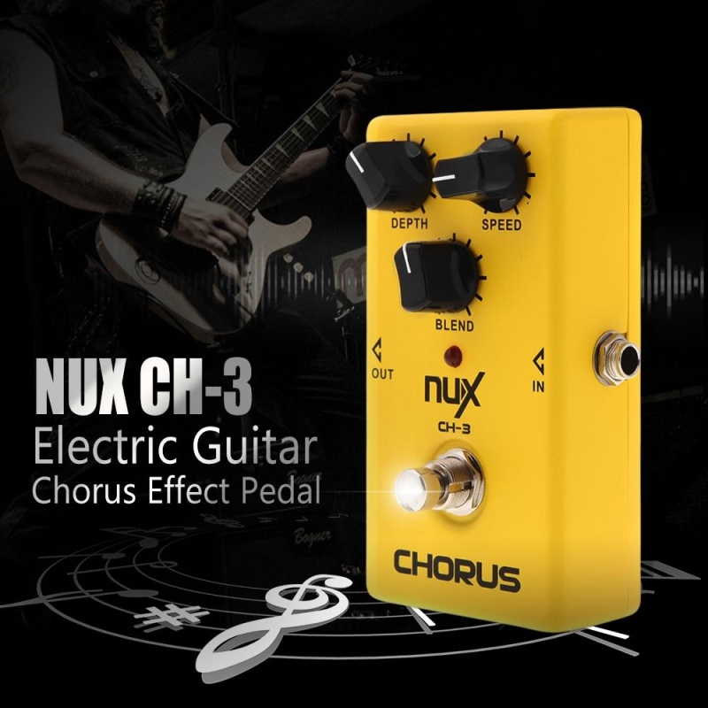 NUX CH-3 Guitar Electric Effect Pedal Chorus Low Noise BBD High Quality True Bypass Yellow ^ - intl