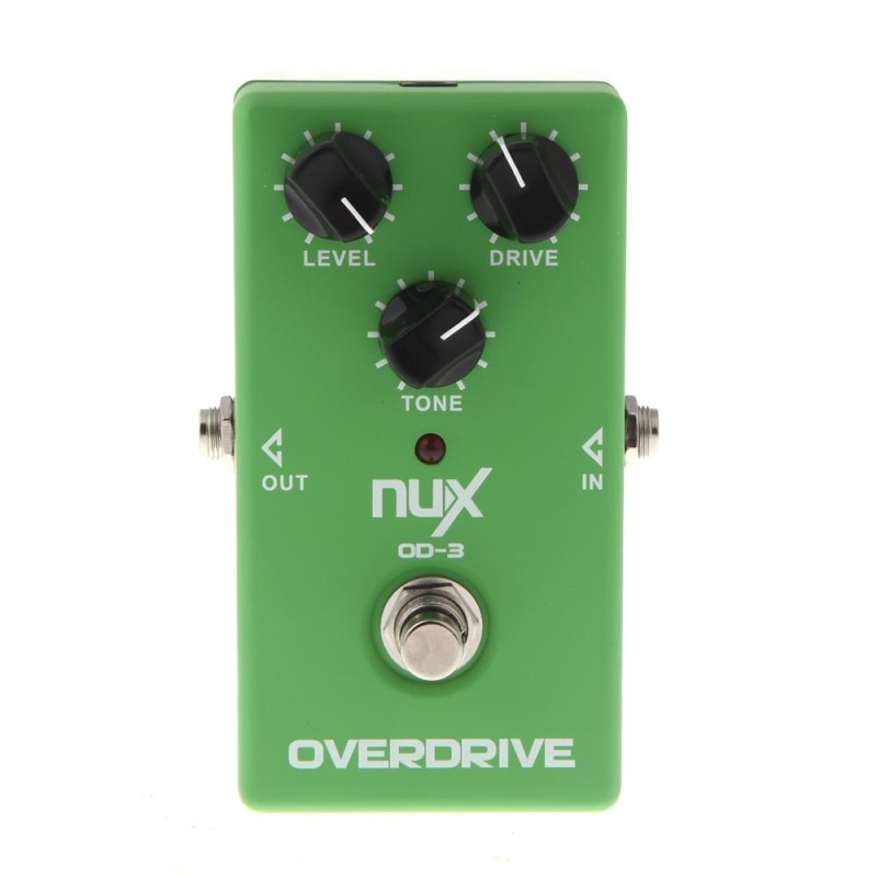 NUX OD-3 Overdrive Guitar Electric Effect Pedal Ture Bypass Green - intl