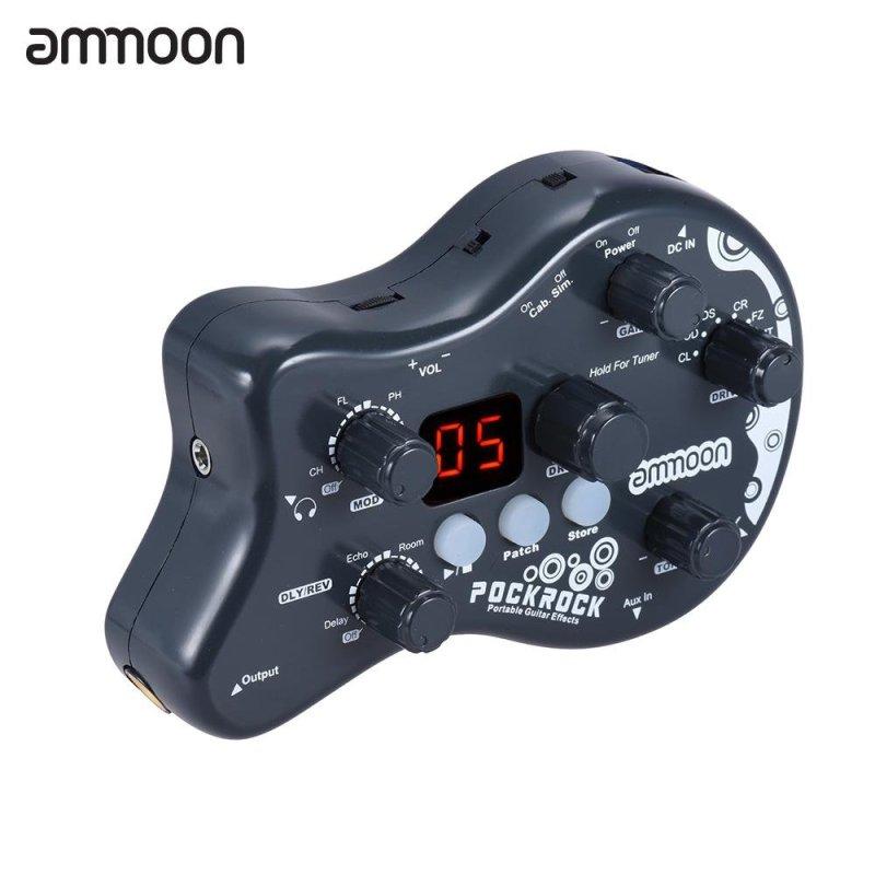Phơ guita ammoon PockRock Portable Xử lý nhiều hiệu ứng  Chứng năng chỉnh 15 loại hiệu ứng 40 nhịp trống Có bộ đổi nguồn- intl
