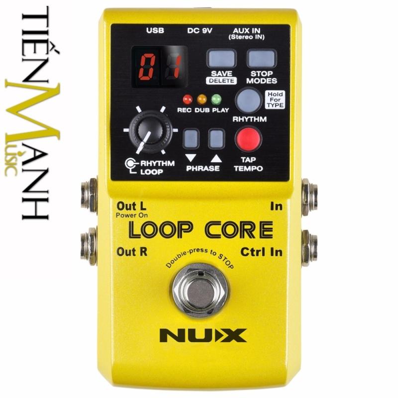 Phơ Guitar tạo vòng lặp Nux Loop Core Effect Pedal (Bàn đạp Looper Fuzz - Thời gian ghi âm 6h)