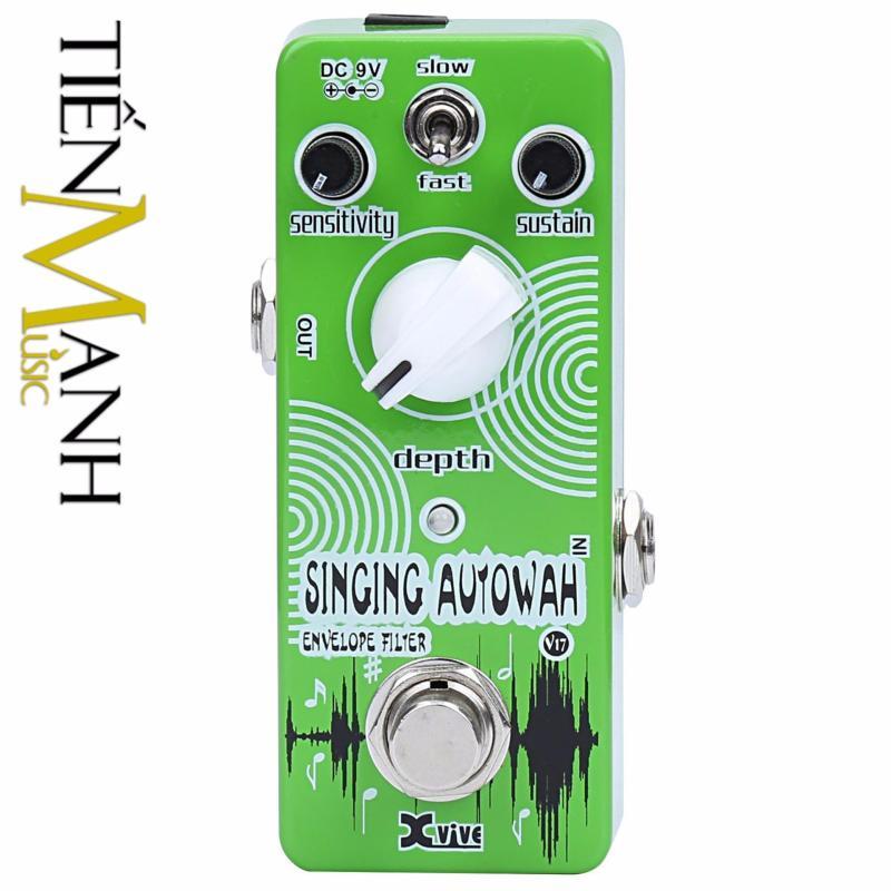 Phơ Guitar Xvive Analog Singing Autowah V17 (Có Nguồn xịn đi kèm - Bàn đạp Fuzz Pedals Effects Wah-Wah)