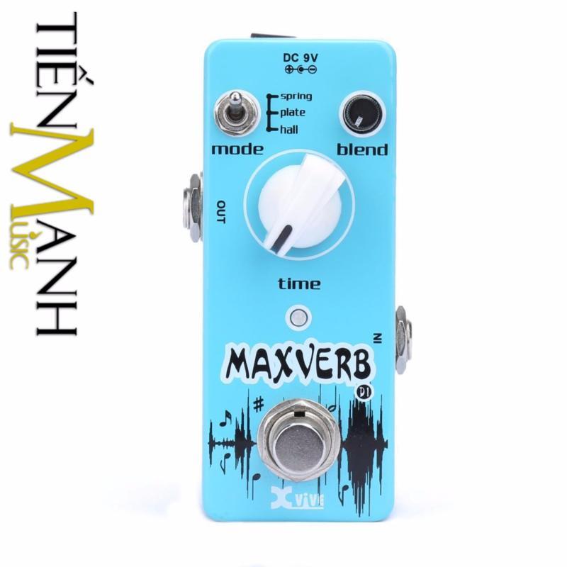 Phơ Guitar Xvive Digital Maxverb (Reverb) D1 (Có Nguồn xịn đi kèm - Bàn đạp Fuzz Pedals Effects)