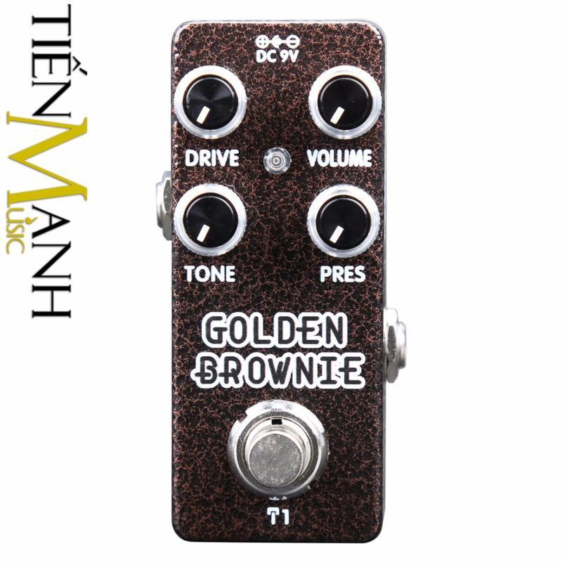 Phơ Guitar Xvive Golden Brownie T1 (Có Nguồn xịn đi kèm - Bàn đạp Fuzz Pedals Effects)