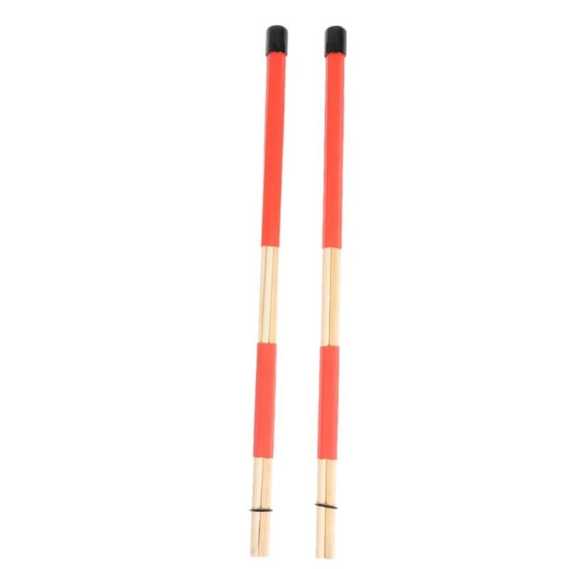 Professional Bamboo Drum Brush Bundle Stick Bamboo Drums Sticks - intl