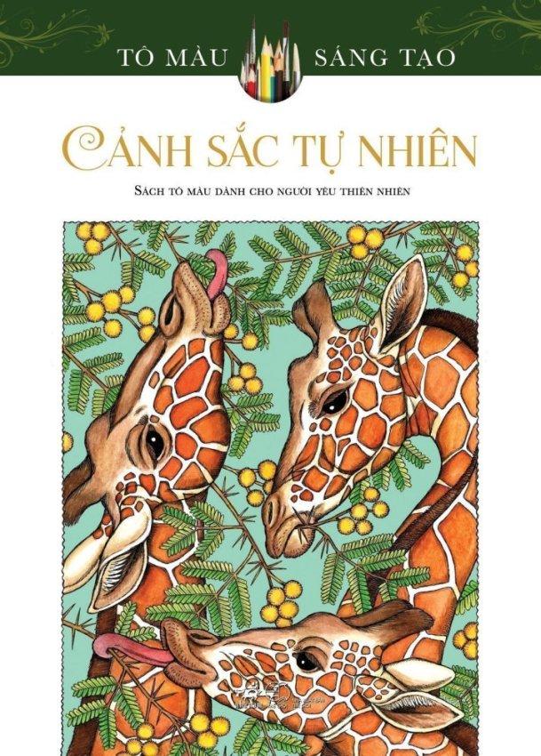 Sách tô màu dành cho người lớn Cảnh Sắc Tự Nhiên - Patricia J. Wynne