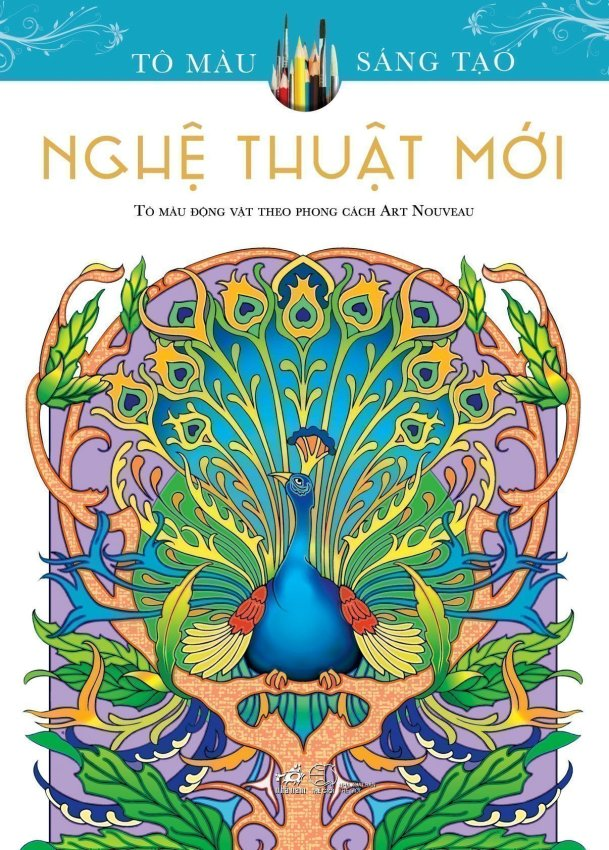 Sách tô màu dành cho người lớn Nghệ Thuật Mới - Marty Noble