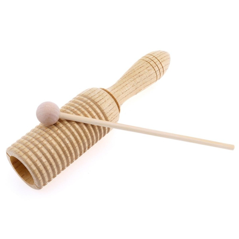 Sound Tube Wooden Crow Wood Sounder Musical Toy Percussion Education Instrument with Stick - intl