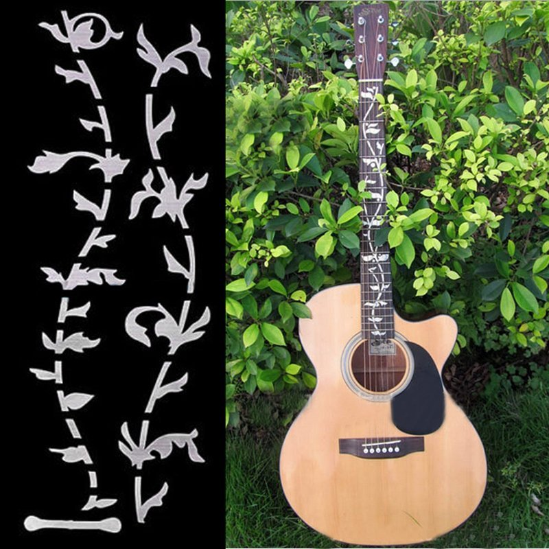 Tree Of Life Guitar Bass Fretboard Inlay Sticker DIY Wall Decal Silver Thin - Intl