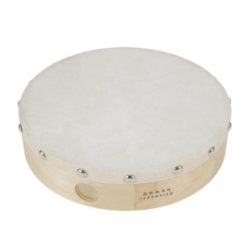 """UINN 8"""" Sheepskin Tambourine Drum Round Wooden Rivet Toys for Gift wood - intl"""