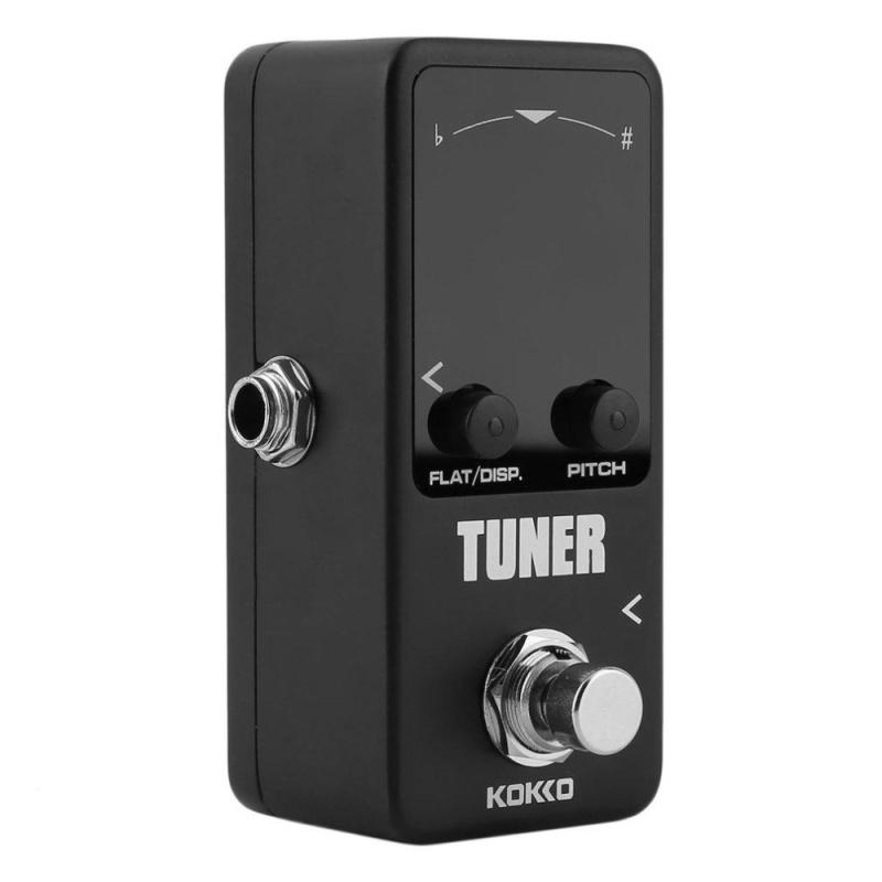 USTORE Pedal Tuner Guitar Bass Violin Stringed Instruments Tuner Effect Device Black - intl