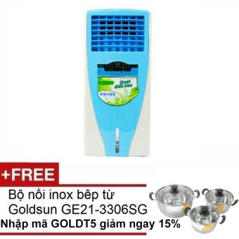 Quạt điều hòa Goldsun EF GHO 10 tặng bộ nồi Goldsun inox bếp từ GE21