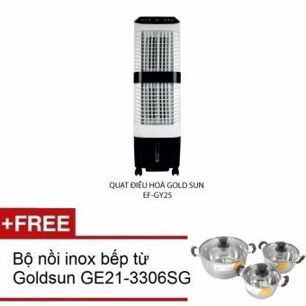Quạt điều hòa Goldsun EF GY25 Tặng kèm bộ 3 nồi dùng được cho bếp từ