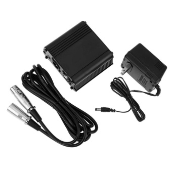 48V Microphone Phantom Power Supply +2.5M/8.2ft XLR Cable Line (USPlug) - intl