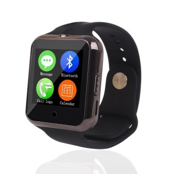 Bluetooth C88 Sync Notify TF SIM camera Smartwatch for IPhone IOS Android for Samsung Sony Xiaomi Black intl