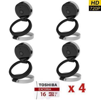 Bộ 4 camera HD 720P SmartZ Góc Rộng Tới 130 Độ