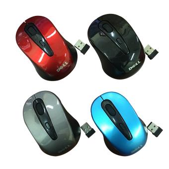 Chuột không dây Dell 2 4 GHz wirless mouse Xanh