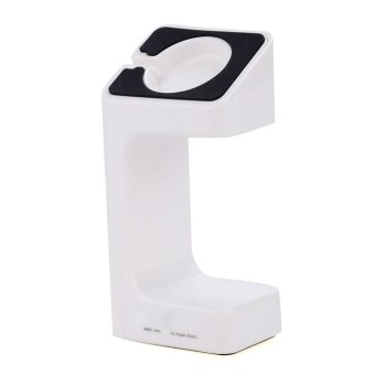 Portable Charging Stand for Apple Watch Cord Docking Station Holder White