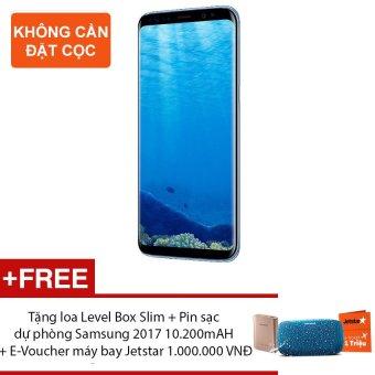 Samsung Galaxy S8 64G Ram 4GB 5.8inch (Xanh san hô) - Hãng phânphối chính thức + Tặng loa Level Box Slim + Pin sạc dự phòngSamsung 2017 10.200mAH + E-Voucher máy bay Jetstar 1.000.000 VNĐ