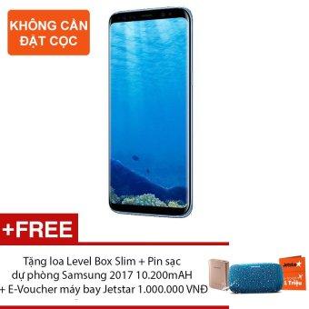 Samsung Galaxy S8 Plus 64G Ram 4GB 6.2inch (Xanh san hô) + Tặng loaLevel Box Slim + Pin sạc dự phòng Samsung 2017 10.200mAH + E-Voucher máy bay Jetstar 1.000.000 VNĐ