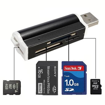 YBC Multi-colored USB2.0 Memory Card Reader for Micro SD MMC SDHCTF Card - intl