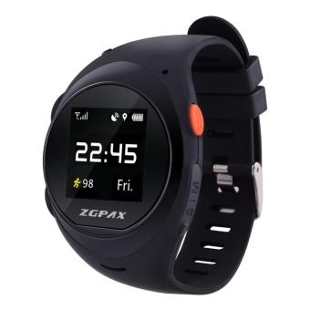 ZGPAX X83 Wrist Smart Phone Watch MTK2503D WIFI GSM Elder SOS GPS Tracking Black intl