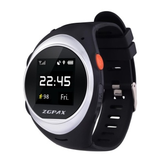 ZGPAX X83 Wrist Smart Phone Watch MTK2503D WIFI GSM Elder SOS GPS Tracking Silver intl