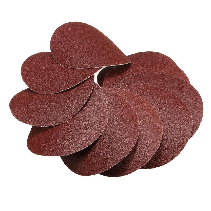 10x 75mm 3inch Sanding Discs Sandpaper 120 Grit - intl